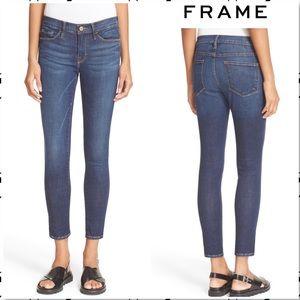 Frame Le Skinny de Jeanne Crop Jeans Lennox 28